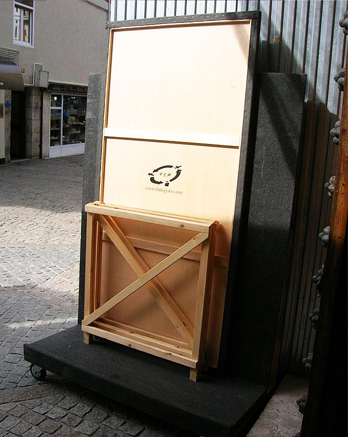 Mesa para embalar / desembalar