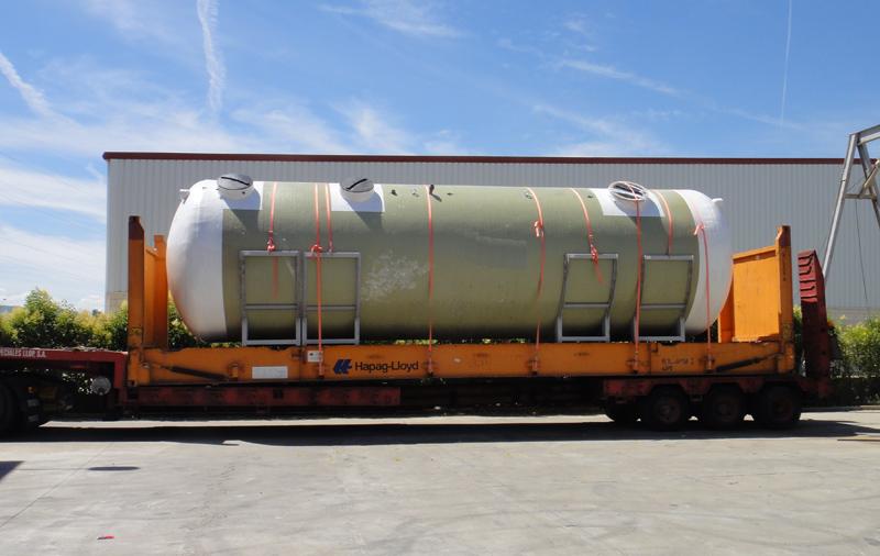 Transporte sobre dimensionado sobre contenedor Flat-Rack